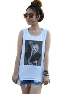 Avril Lavigne Pop Rock Culture Punk Custom Tops Tank by dazztees, $14.99