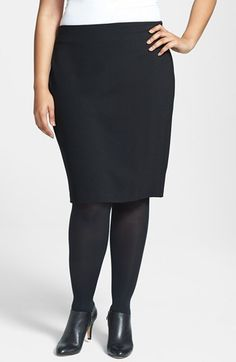 Vince Camuto Ponte Knit Skirt (Plus Size) available at #Nordstrom