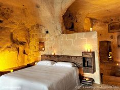 The cave homes of Matera, Italy