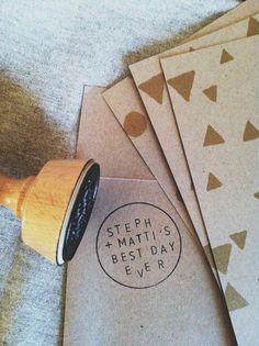 sneak peek of our wedding invitations // 70percentpure