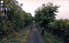 Unknown Road, Knock Killua, Co. West Meath, Ireland, 2011 Archival C-print 40 x 64 inches x Courtesy of Jon Rafman Google Street View, Jon Rafman, Poesia Visual, Maps Street View, Panoramic Images, Canadian Artists, View Photos, Scenery, Around The Worlds