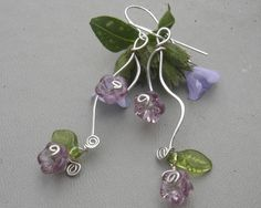 Vining Lilac Purple Flowers and Tendrils by nicholasandfelice, $ 22.00