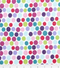 Novelty Cotton Fabric-Large Dot Glitter