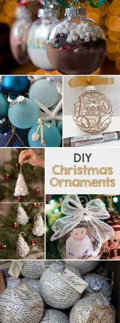 DIY Christmas Ornaments • Lots of Ideas & tutorials!
