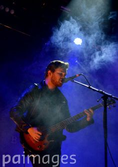 Mike Kerr of Royal Blood performs during day three of Leeds Festival in Bramham Park, Leeds.