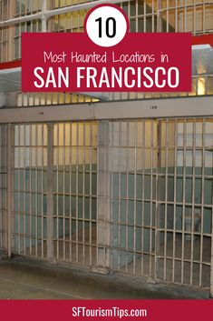 Check out 10 of the most haunted places in San Francisco that are open to visitors. My top picks include Alcatraz. Stow Lake, and the Columbarium. Places In San Francisco, San Francisco City, San Francisco Travel, San Francisco Attractions, San Francisco Neighborhoods, Travel Usa, Canada Travel, Travel Tips, Abandoned Castles
