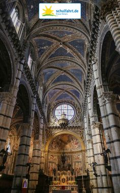 View from the inside of the #Siena #Cathedral www.schulfahrt.de