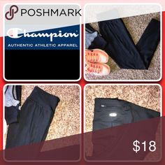 "Sz M Duo Dry Fit Leggings"" Like New Great fitting, great value, and great looking. Practical zip closure pocket for gym locker key or ID Champion Pants Leggings"