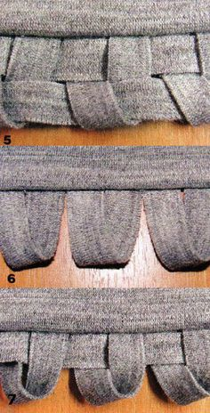 """Finishing of knitwear. Decor on the Edge details [translation]: This type of finish (fig. 5) is applicable on the edges of parts: at the bottom of the product at the bottom of the sleeves, the collar on the edge of the flight, and so on. D. Knitwear should be low osypaemost slices, not """"shoot arrows"""" and not screwed on sections."""