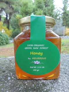 Organic Greek Raw Forest Honey - Unprocessed - From Pines, Ivy & Heather - - Jar by Melirrous on Gourmly How To Calm Nerves, Honey Benefits, Natural Vitamins, Raw Honey, Fall Harvest, Allergies, A Food, Greek, Jar