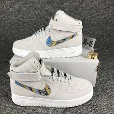 17e0b6a162ea5 Nike Air Force 1 Hi Cowboy National Light Grey 749266 001 Mens Running  Shoes Nike Air