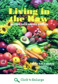 Rejuvenate your health with over 300 raw food recipes in the Living in the Raw cookbook including bread, muffins, crackers, juices, main dishes, salads, desserts and more. http://www.veggiesensations.com/products/living-in-the-raw