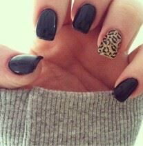 My manicurist would kill me if I asked her to do that leopard print accent but it might be worth it :)