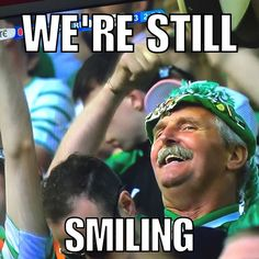 Still smiling even after losing to 3 goals. You won't beat our spirit! #COYBIG
