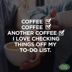 Done, done, and done. We love checking things off our to-do list! Have you had your cup of #coffee today?
