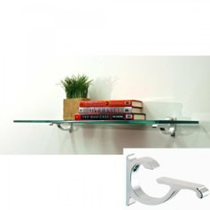 """10"""" Floating Monarch Shelf Bracket Finish: Chrome, Size: 36"""" W x 10"""" D by Spancraft Glass. $73.50. Easy installation.. Color: Chrome. Size: 0.375""""H x 36""""W x 10""""D. Recommended weight capacity up to 80 pounds.. Shelves include 2 shelf brackets with hardware.. M10X36-Chrome Bracket Finish: Chrome, Size: 36"""" W x 10"""" D Features: -Shelf.-3/8'' thick clear tempered glass.-Recommended weight capacity up to 80 pounds.-Expertly packaged to ensure safe delivery.-Easy installation...."""