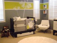 awesome neutral baby room. I think the chair would have to be much, much more comfortable though.
