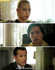 Riverdale Quotes, Riverdale Archie, Bughead Riverdale, Riverdale Funny, Riverdale Cole Sprouse, Drake And Josh, River Dale, Betty And Jughead, Touching Stories
