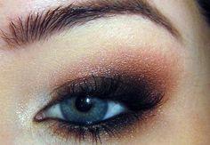 Orange, Brown, Black Eyeshadow Look.