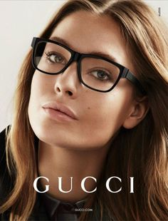 Gucci sunglasses make to be extremely significant part of fashion. Gucci sunglasses have more variety of fashion. You look more beautiful by wear it. Cute Glasses, New Glasses, Girls With Glasses, Glasses Frames, Gucci Eyewear, Gucci Eyeglasses, Eyewear Trends, Designer Eyeglasses, New Ray Ban Sunglasses