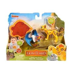 Lion Guard Action Figure 2 Pack with Arm Band - Fuli vs Mzingo Kid Experiments, Face Off, Disney Junior, Cool Toys, Girl Dolls, Action Figures, Lion, Arms, Packing