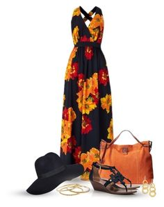 Maxi Dress by oribeauty-cosmeticos on Polyvore featuring Tory Burch, Tommy Hilfiger, J.Crew, Gurhan and Ellen Tracy