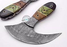 Custom Hand made Beautiful Damascus Steel ULU Knife (AA-0365-4) #UltimateWarrior