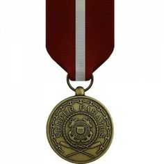 The Coast Guard Good Conduct Medal (CGGCM) is bestowed upon any enlisted Coast Guardsmen who has three consecutive years of honorable service. This service must be free of disciplinary actions, such as non-judicial punishments or courts martial offenses. If such an offense occurs, the three year periods begins again following the date of the offense. Subsequent awards of the medal are displayed with bronze star devices.
