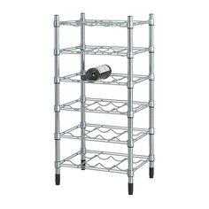 OMAR Garrafeira IKEA Fácil de montar. Não são precisas ferramentas. Pode ser adicionado verticalmente para criar mais espaço de arrumação.
