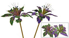 """Katherine's Collection Mardi Gras Spring Collection Six Assort 18 x 14"""""""" Large Mardi Gras Flower Stems Free Ship"""