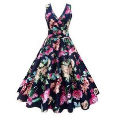 e7b0f33123f01 Buy wholesale plus size floral printed vintage gown dress 5xl floral for   15.78 from China vintage