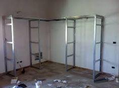 Idee Per Cabine Armadio Cartongesso : Libreria in cartongesso shelf cabinet doors storage ideas