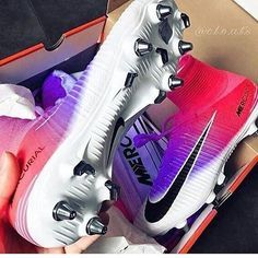 Oh these, these are the soccer cleats I want for next season Girls Soccer Cleats, Soccer Gear, Football Girls, Soccer Equipment, Play Soccer, Soccer Stuff, Nike Cleats, Jordan Cleats, Cool Football Boots