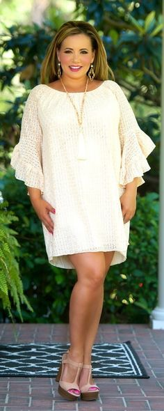 Lounge Lover Dress / Tunic - Light Peach - Perfectly Priscilla Boutique