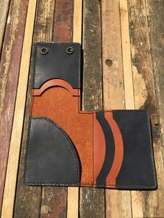 Legacy Copper Leather L Wallet with Brass Snaps   Etsy Money Clip Wallet, Card Wallet, Lego Stormtrooper, Copper, Brass, Painting Edges, Hole Punch, Lightsaber, Card Holders