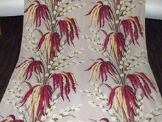 Hollywood Bungalow Vintage 30s Pussywillow Barkcloth Drape Fabric Panel Florida Bungalow EBAY