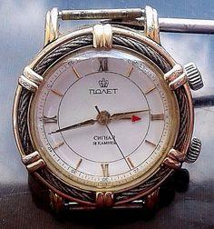 "Rare Vintage Russian ""POLJET"" ""SIGNAL"" mecanical 2602.А watch № 9880 #Poljot"