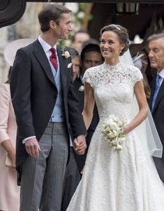 Pippa Middleton Photos Photos - Pippa Middleton and James Matthews after their wedding at St Mark's Church on May 20, 2017 in Englefield, England. - Wedding of Pippa Middleton and James Matthews