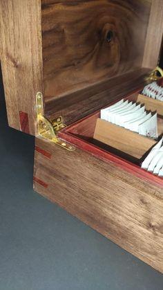 Walnut Tea BoxHandmade Tea Boxstorage tea box Chest Tea Bag   Etsy Coffee Table Upcycle, Wooden Tea Box, Magnetic Knife Holder, Tea Caddy, Personalised Box, Box With Lid, Wood Boxes, Wood Veneer, Keepsake Boxes