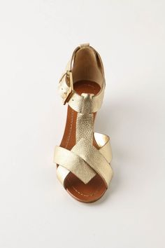 Beautiful & simple golden Bullion Bands sandals from @Anthropologie.