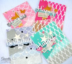 How to make OMBRE BACKGROUNDS with ColorBox Pigment Ink and Art Screens Stencils. Check out thisw tutorial to make gorgeous cards with ink and stencils!! Pigment ink is perfect for blending color to color, like pink to gold. http://blog.clearsnap.com/?p=15911