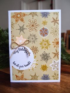 Christmas Bauble, Weihnachtskugelkarte, Christbaumkugelkarte, Depot Geschenkspapier, Schneeflockenkarte,