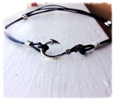 Fishers of Men Solid Sterling Fish Hook and Leather Adjustable Necklace on Etsy, $98.00