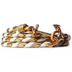 Nautical Rope Wrap Bracelet, Royal Egret