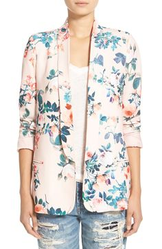 Floral printsaren't meant just for spring and summer. This beautiful tailored blazer will add a fresh, feminine pop to any outfit regardless of the season.