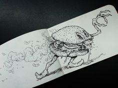 The Evil Burger #sketch #draw #illustration #sketchbook