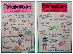 Peace Classroom Theme | Peace Makers and Peace Breakers