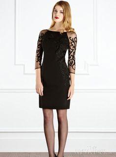 Soft Half Sleeve Lace Dress.