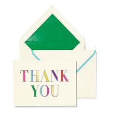Kate Spade Thank You Notecard Set - Rainbow Prism | The TomKat Studio Shop