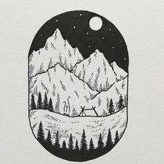A mountain scene to start this week! It feels like it's spring and I hope that it stays like this. How was your weekend? My shop with prints and originals. http://ift.tt/2jfRKg7 . . . #illustration #illustrations #drawing #draw #sketchbook #artwork #artworks #instaart #instaartist #traditionalart #artoftheday #artsy #handdrawn #illustrate #kunst #artdiscover #artistofinstagram #inkstagram #iblackwork #blackworknow #linedrawing #blackworkillustrations #mountains #landscape #swissartist